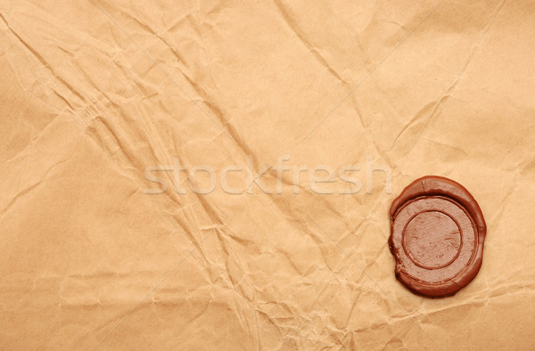 empty wax seal on old paper  Stock photo © inxti