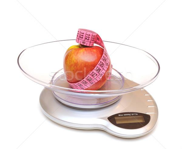 Gezond leven vruchten gezondheid achtergrond oefening tape Stockfoto © inxti