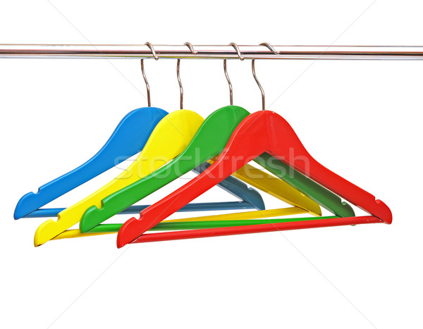 colorful coats hanger isolated on white Stock photo © inxti