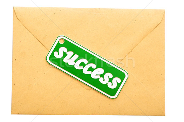 envelope mail message of success Stock photo © inxti