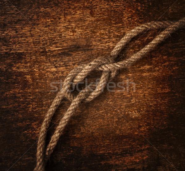 Kötél koszos hajó klasszikus rajz történelem Stock fotó © inxti