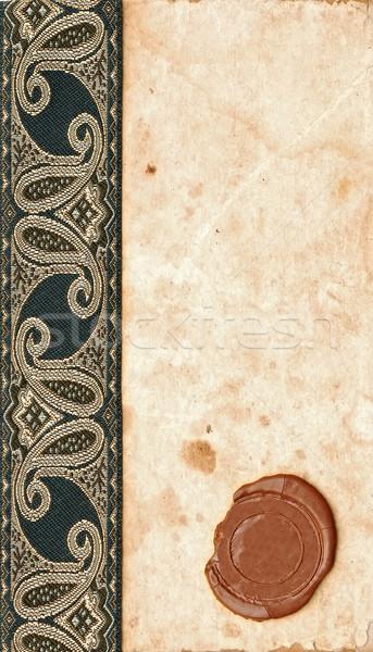 Régi papír viasz fóka antik szalag fény Stock fotó © inxti