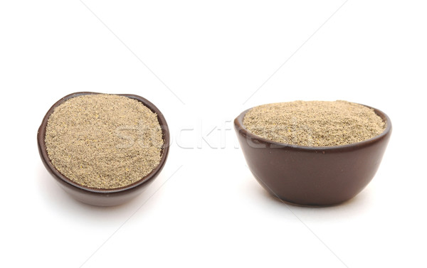 black pepper  in a clay bowl Stock photo © inxti