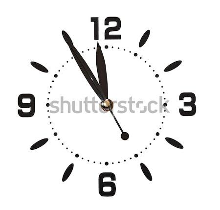 Isolado branco cara parede relógio Foto stock © inxti