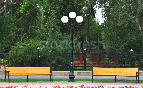 Summer day in public city park Stock photo © inxti