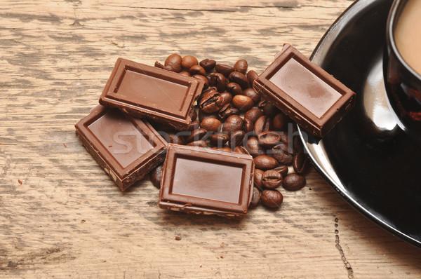 Stock fotó: Közelkép · frissen · előkészített · csésze · kávé · csokoládé