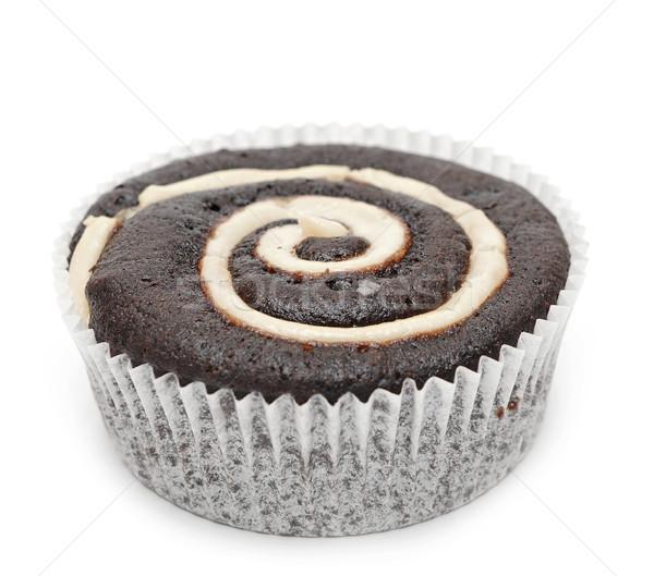 Stock photo: Mini cupcake isolated on white background