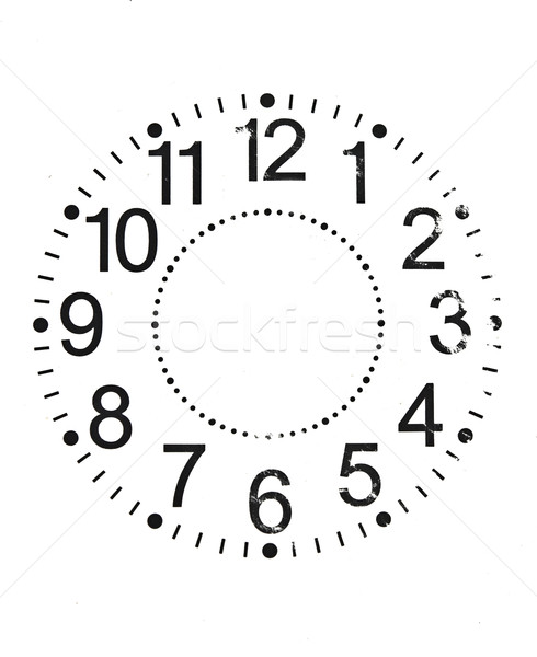 Old Clock Isolated on white  Stock photo © inxti