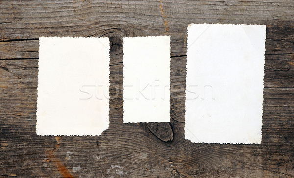 Old photos over the wooden background Stock photo © inxti
