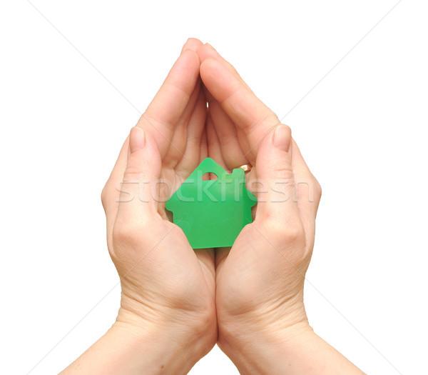 Ev sigortası el arka plan finanse banka başarı Stok fotoğraf © inxti