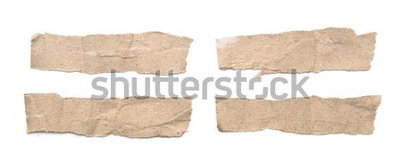 Collection of white paper tears, isolated on white with soft sha Stock photo © inxti