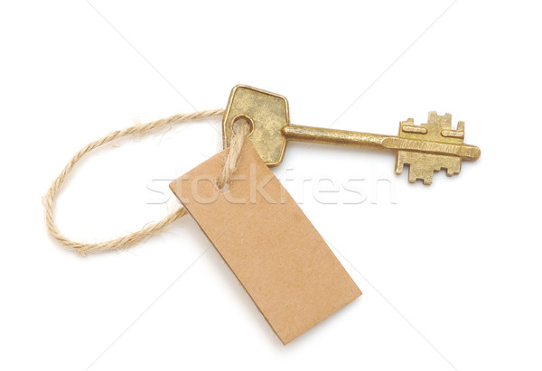 old key and blank label for your text message Stock photo © inxti