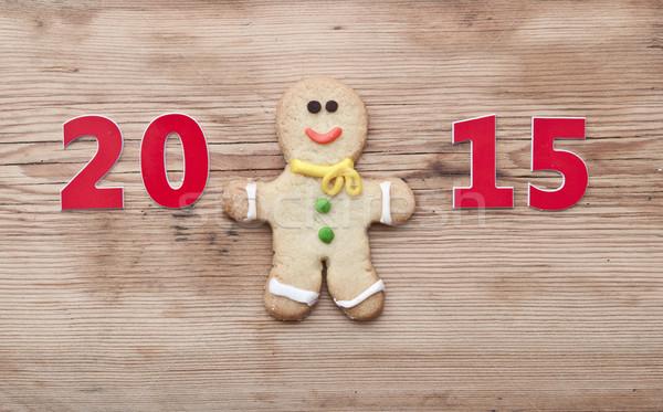 Stock fotó: Karácsony · 2015 · süti · házi · készítésű · festett · mézeskalács · ember