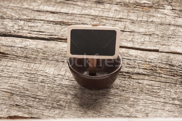 üres tál üres tábla fából készült terv háttér Stock fotó © inxti