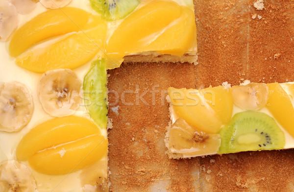 Fatia bolo comida folha Foto stock © inxti