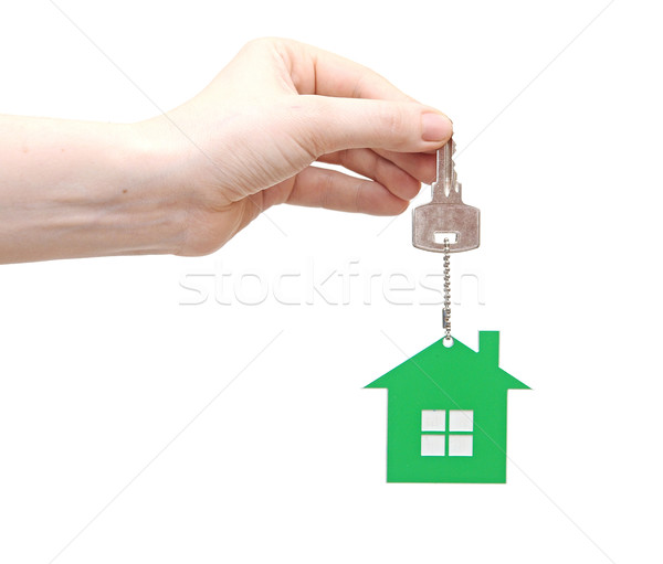 Kéz ház kulcs háttér pénzügyi biztonság Stock fotó © inxti