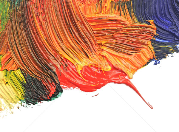 Abstract background drawn by oil paints Stock photo © inxti