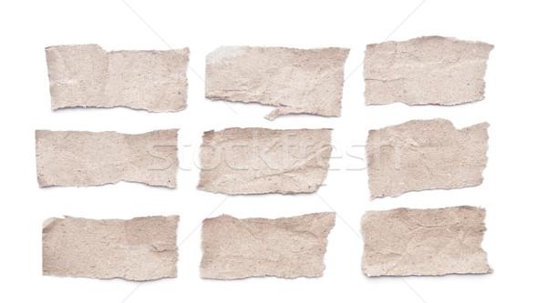 Stock fotó: Gyűjtemény · szürke · darabok · papír · iroda · textúra