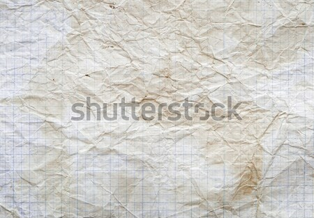 Old vintage dirty graph paper.  Stock photo © inxti