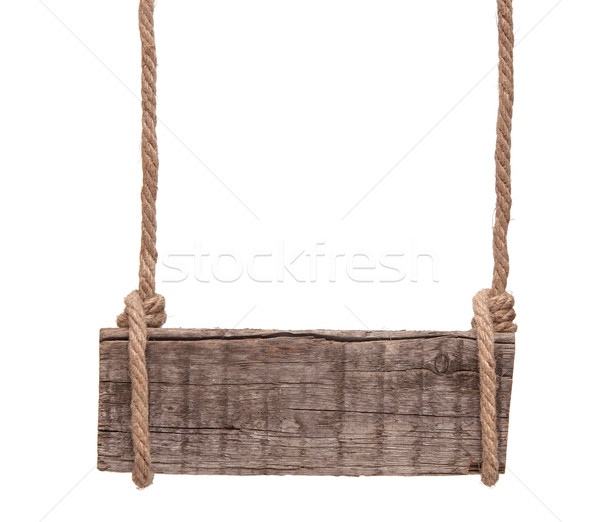 blank wooden sign and rope isolated  Stock photo © inxti