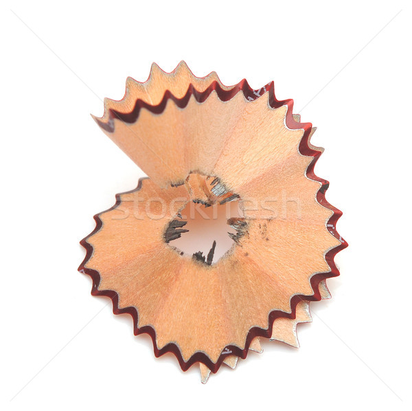 Closeup of pencil shaving isolated on white background.  Stock photo © inxti