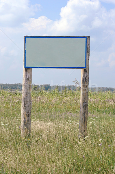 Old wooden sign without a message - insert your own  Stock photo © inxti