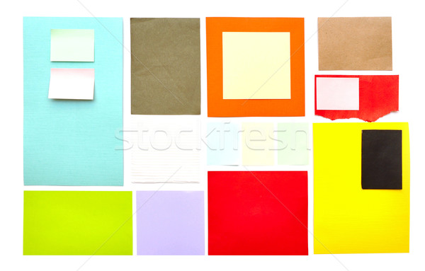 reminder notes on the bright color paper  Stock photo © inxti