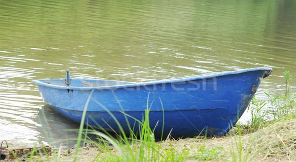 blue boat ashore  Stock photo © inxti