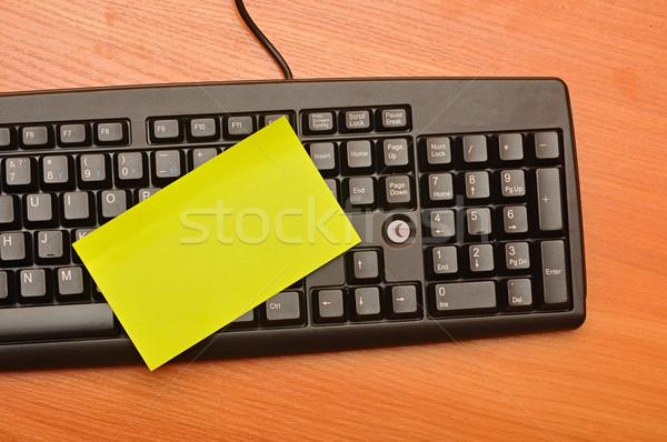 Schrijfpapier zwarte toetsenbord computer kantoor technologie Stockfoto © inxti