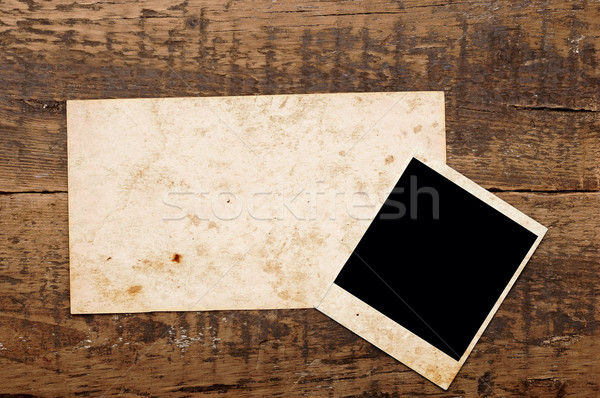 Vintage background with old paper and photos Stock photo © inxti