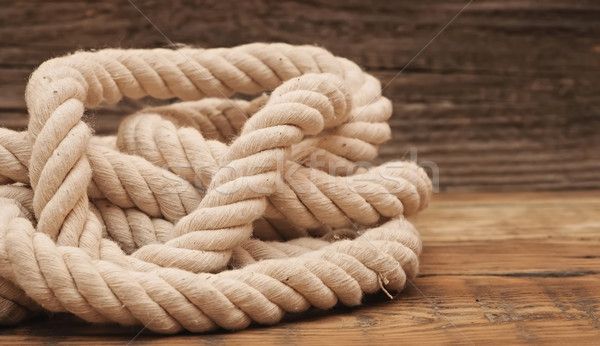 ship ropes borders on wood background texture  Stock photo © inxti