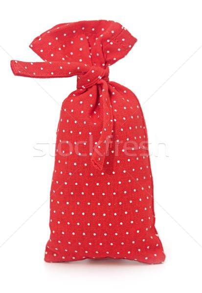 Vermelho saco fundo tecido engraçado Foto stock © inxti