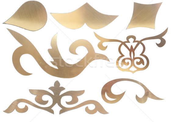 golden collection of carved decorative elements Stock photo © inxti