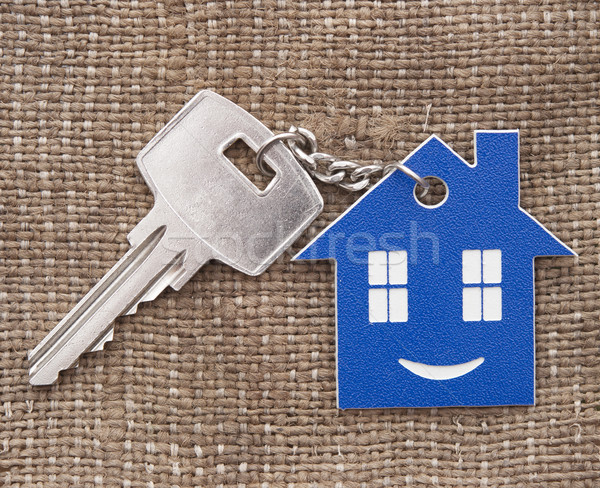 Keychain figure of house and key close up  Stock photo © inxti