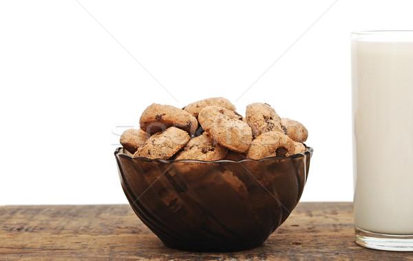 Stock fotó: Csokoládé · chip · sütik · csésze · fehér · kávé