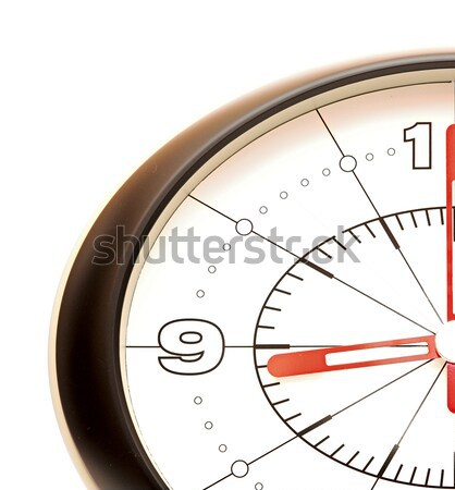 Wall clock showing five minutes to twelve and a hand bringing ar Stock photo © inxti
