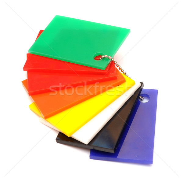 color sampler glossy plastic isolated on white  Stock photo © inxti