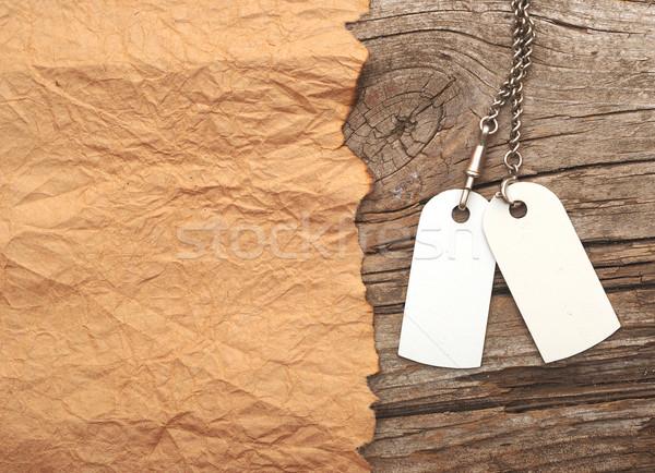 Zdjęcia stock: Srebrny · łańcucha · vintage · przestrzeni · yo