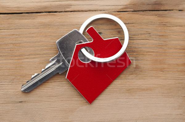 Kulcs zár ház ikon család absztrakt Stock fotó © inxti