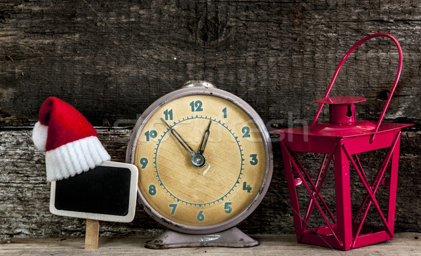Christmas vakantie hoed decoraties vintage Stockfoto © inxti