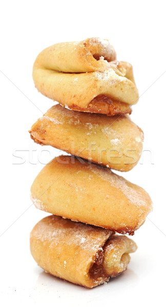 Ev yapımı süzme peynir kurabiye elma reçel Stok fotoğraf © inxti