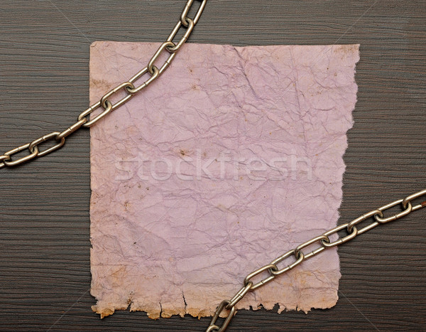 old paper on border wood background  Stock photo © inxti