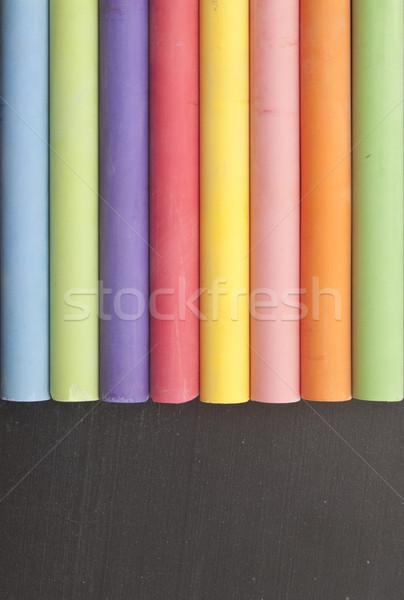 Kolorowy kredy tablicy kopia przestrzeń yo student Zdjęcia stock © inxti