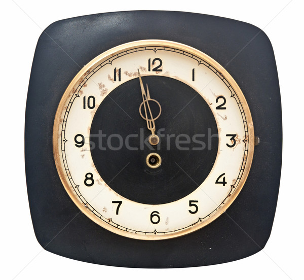 isolated grunge watch. five minutes to twelve  Stock photo © inxti
