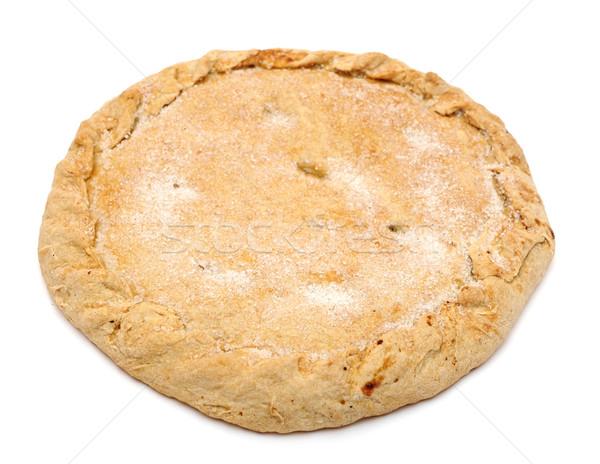 Foto stock: Doce · torta · isolado · branco · fundo · sobremesa