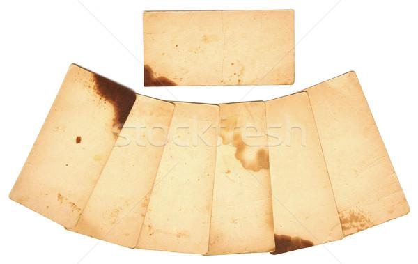 Establecer papel viejo aislado blanco fondo espacio Foto stock © inxti