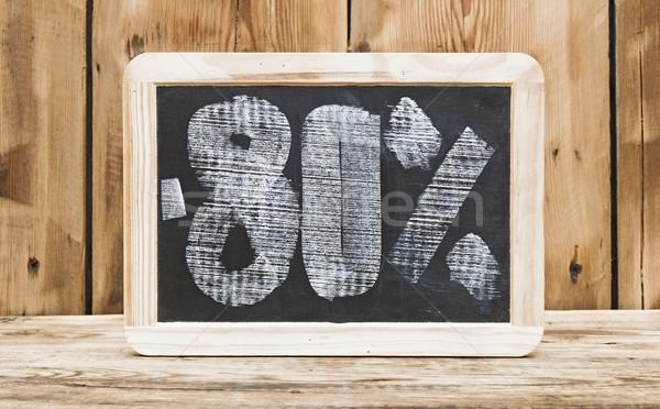 Oitenta por cento desconto escrito lousa escolas Foto stock © inxti