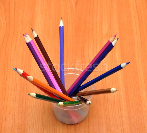 color pencils in glass Stock photo © inxti