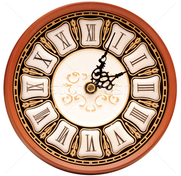 Time concept - vintage clock face  Stock photo © inxti