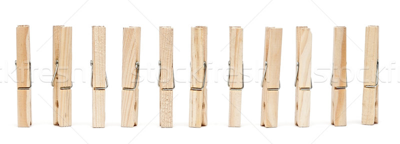 clothes pin isolated on white Stock photo © inxti